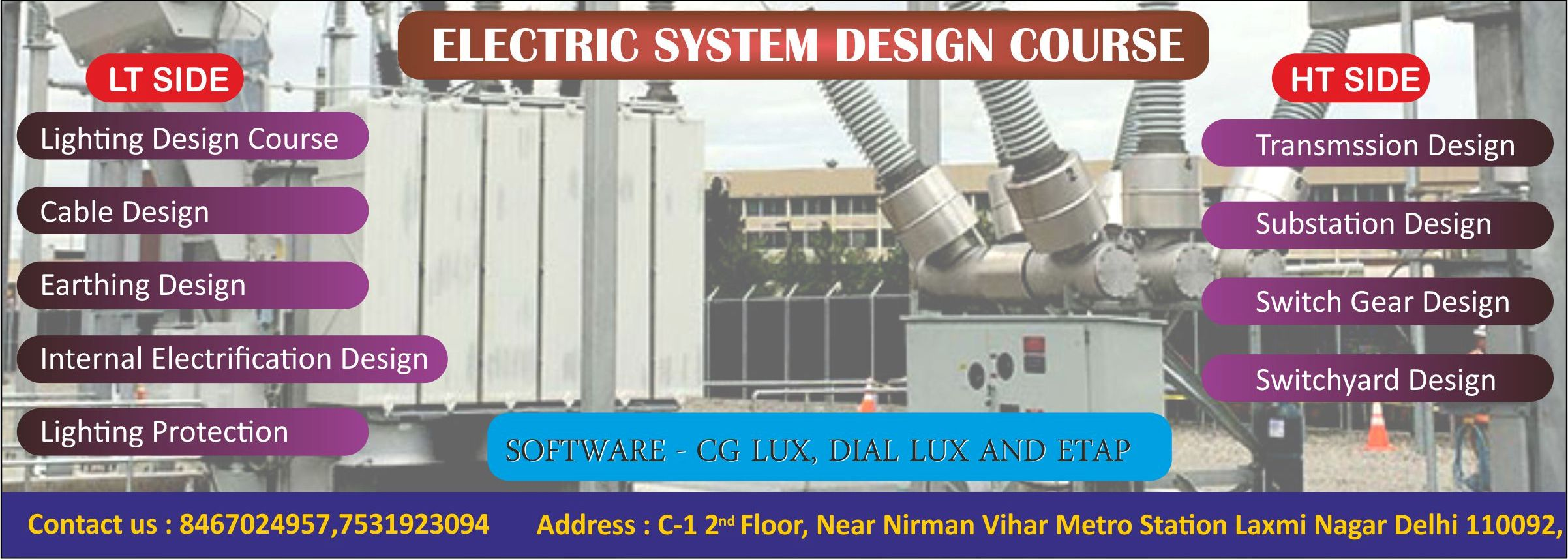 Training Fee & Schedule for Piping Designing, Civil, Hvac