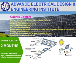 solar power plant design course institute in delhi, solar design training  institute in noida,